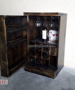 Tủ rượu Mini trang trí phòng khách TRM02